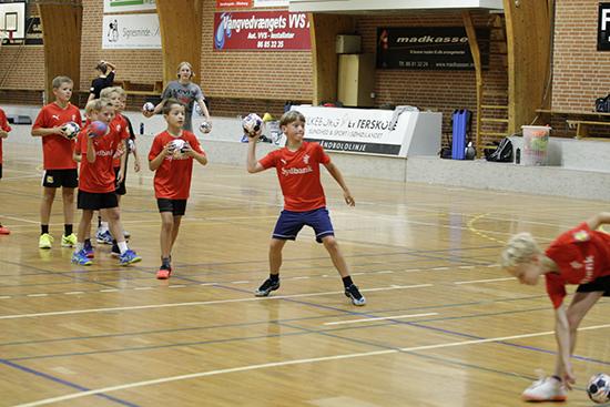 Håndboldtræning for børn i Silkeborg-Voel KFUM
